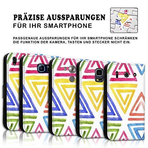 Wallet Book Style Flip Handy Tasche Case Schutz Hülle Schale Motiv Etui für Apple iPhone 5 / 5S - Design Flip MVD29
