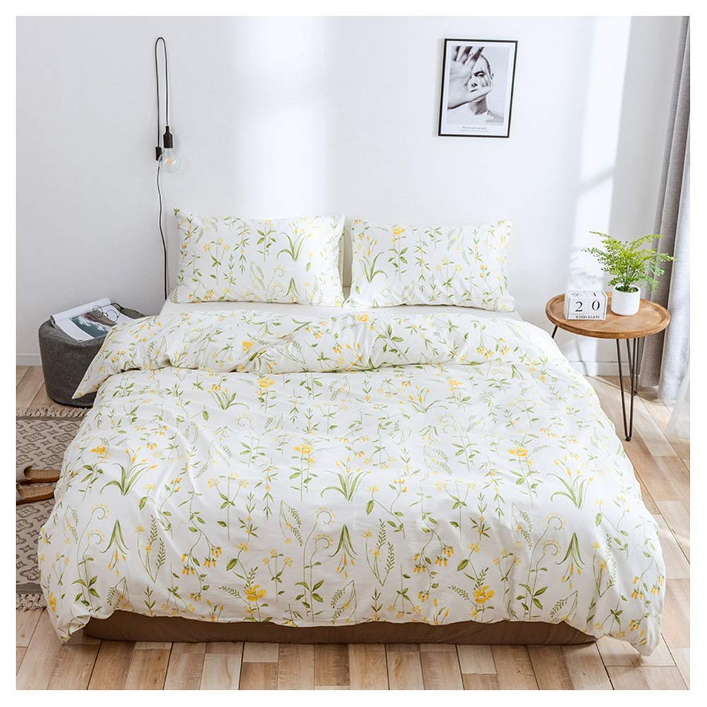 Bedding Duvet Cover Set Duvet Cover Set Bedding Set with Pillowcases Nordic Washable Easy Care 3D Printing for Girl Bedroom (Color : A, Size : 229X229CM) by OZYN-Duvet Covers