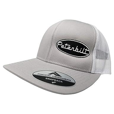 fe97c9dd82a Pacific Headwear Peterbilt Logo Emblem Snapback Hat