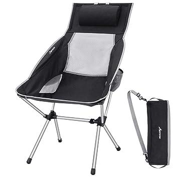 Amazon.com: MOVTOTOP Silla plegable de camping con ...