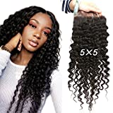 Greatremy 5×5 Lace Closure Curly Wave Brazilian Human Hair with Baby Hair Free Part Natural Color 12inch Review