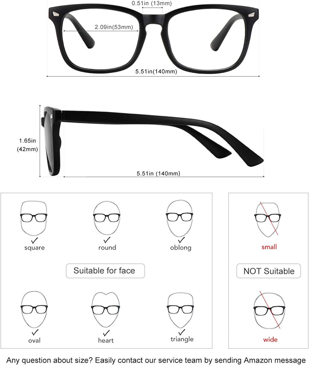 MEETSUN Blue Light Blocking Glasses ,Computer Reading Glasses UV400 Transparent Lens Anti Eye Strain Headache Sleep Better