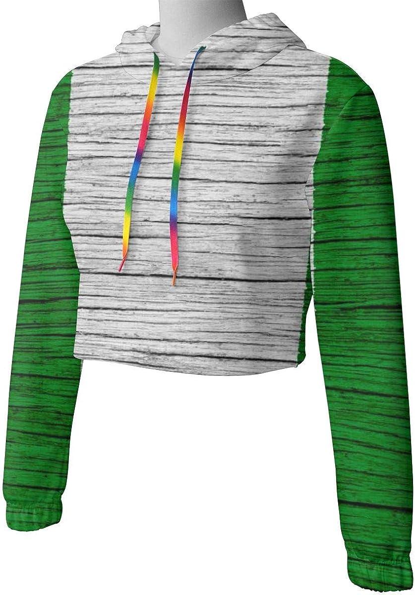 Nigeria Wooden Texture Nigerian Flag Women Sweatshirt Casual Hoodie Tshirt T Hoodies Cropped Crop Tops