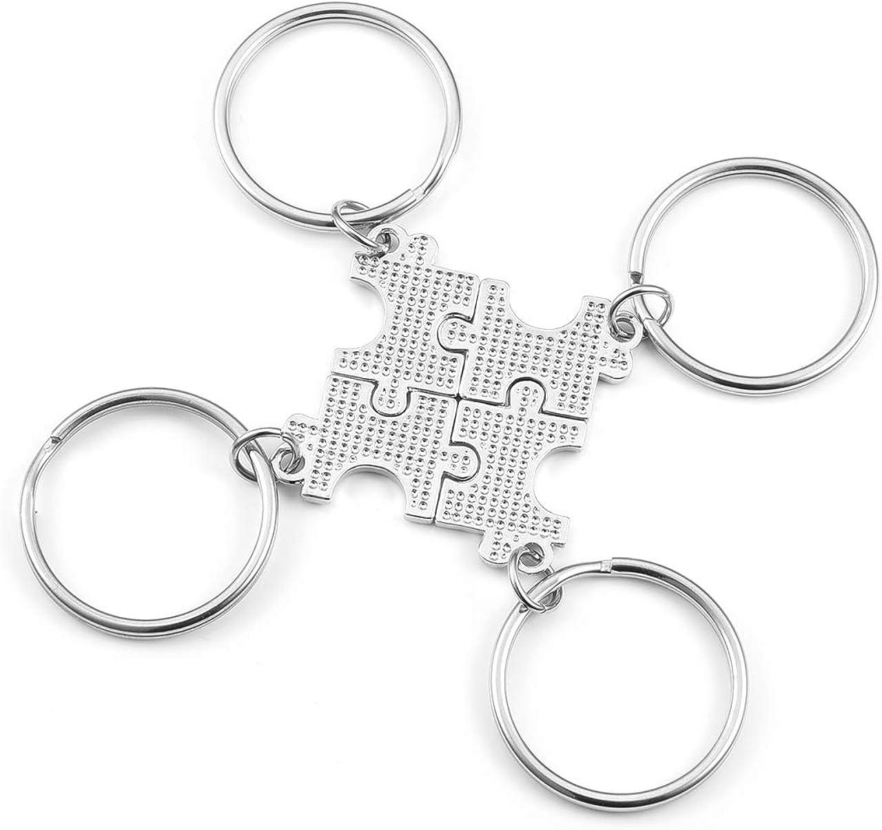 4 St/ück Jovivi Schl/üsselanh/änger Best Friend Puzzle-Anh/änger BBF Freundschaft