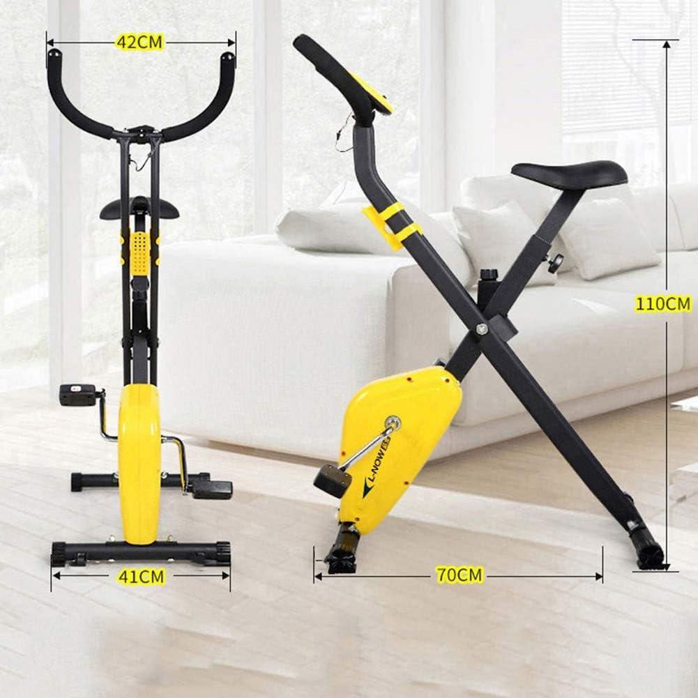 FANGX Plegable Bicicleta Estática de Interior,Professional ...