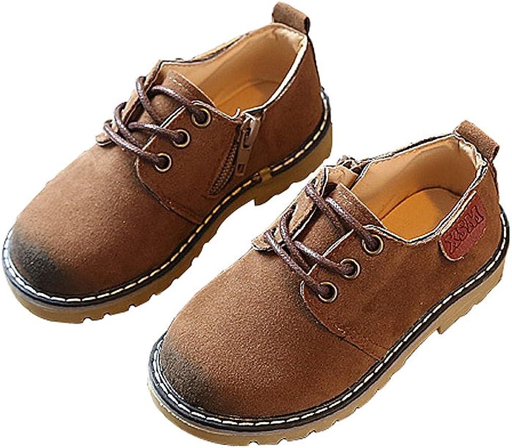 KVbaby Unisexe Enfants Chaussures /à Lacets en Daim Antid/érapant Chaussures Martin gar/çon Confort Su/ède Cuir Mocassins Oxford Doux Soles