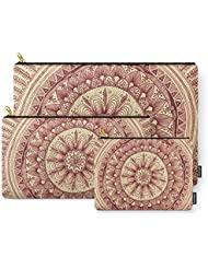 Society6 Mandala: Maroon Carry-All Pouch