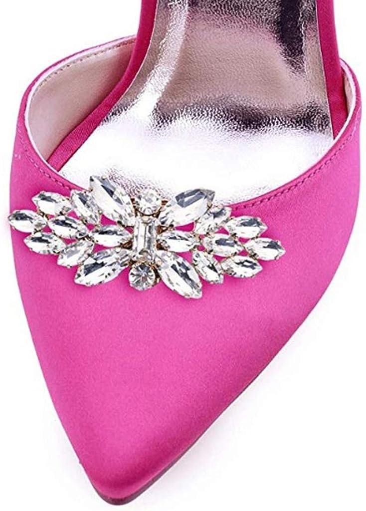 G/én/érique Homyl Bijoux de Chaussures Clips de Chaussures en Strass Dimitation pour D/écoration de Mariage Mari/ée
