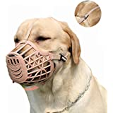 Pettycart Dog Muzzle, Basket Cage Muzzle for Small, Medium, Large Dogs to Stop Barking, Biting and Chewing