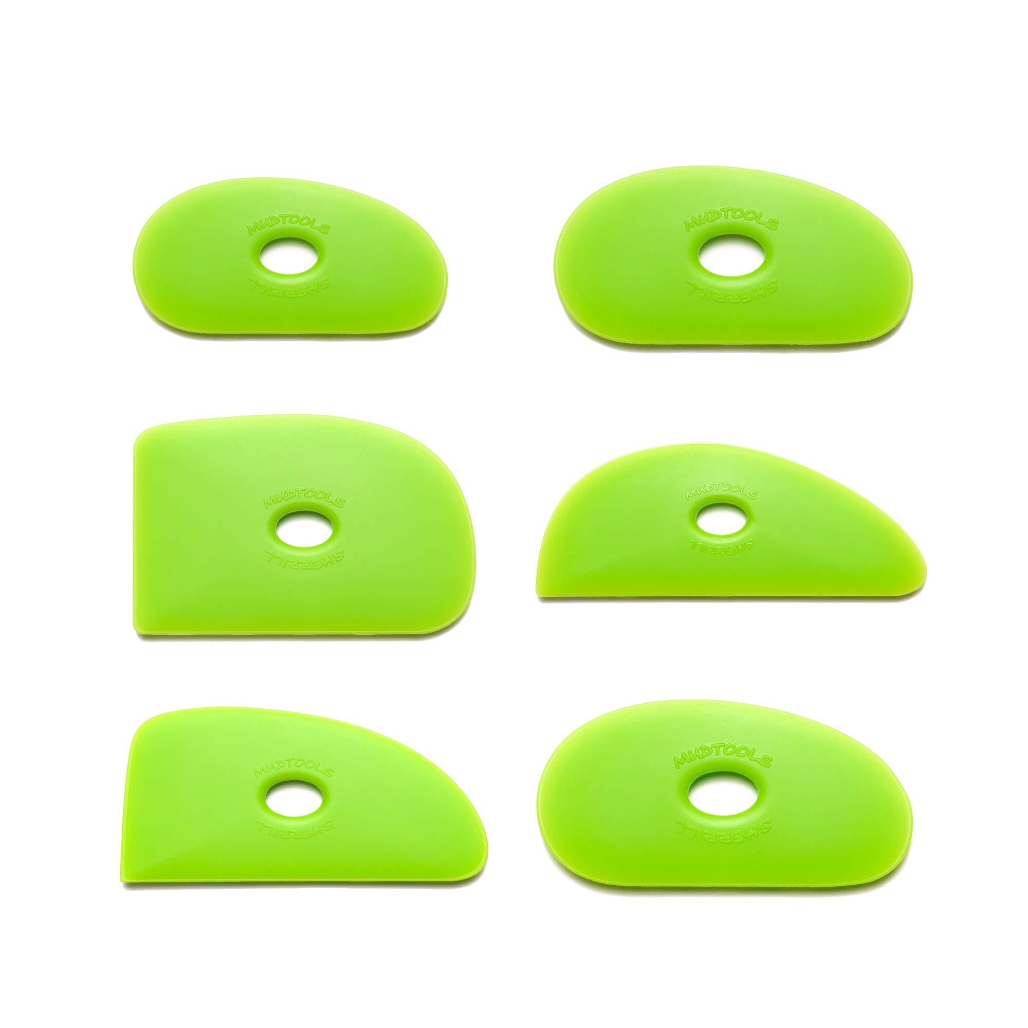 Mudtools Polymer Rib Green Medium - All 6 Shapes - Ceramics, Pottery, Clay - GA