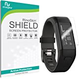 Garmin Vivosmart HR+ Screen Protector [6-PACK] Full Coverage [Military-Grade] (Garmin Approach X40) RinoGear Premium HD Invisible Clear Shield w/ Lifetime Replacements