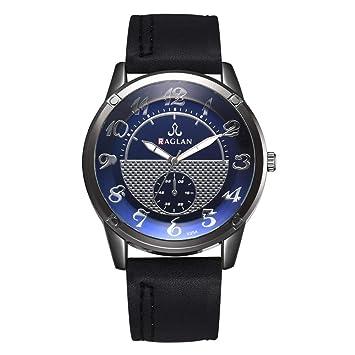 Longra Relojes para Hombre, Cronógrafo Relojes de Pulsera de Cuarzo para Hombres Acero Inoxidable Classic: Amazon.es: Deportes y aire libre