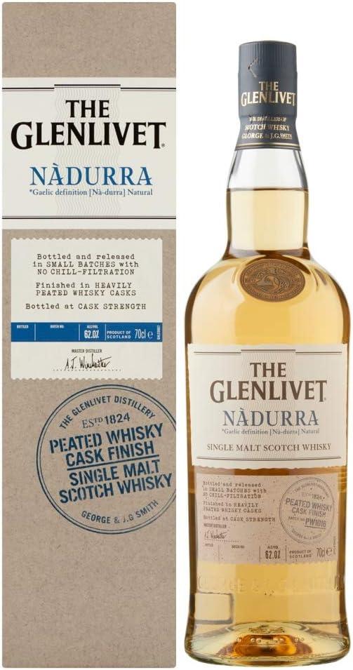 Glenlivet Whisky Nadurra Peated 61,5º + Estuche - 700 ml: Amazon.es: Alimentación y bebidas