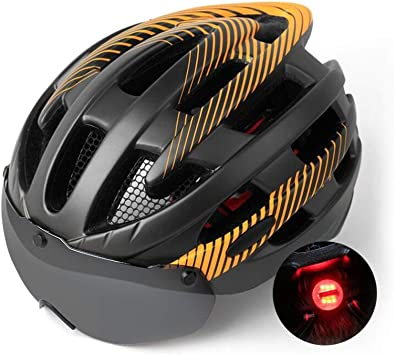 Bicycle Helmet Riding Lightweight Cycling MTB Bike Safety Equipment W// Taillight