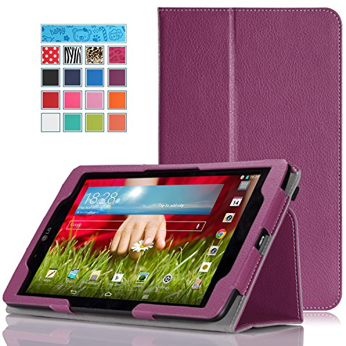 MoKo LG G Pad 8.0 Case - Slim Folding Cover Case for LG G Pad 8.0 inch Android Tablet, PURPLE(Will NOT fully compatible with 2015 G Pad F 8.0 V495 and V496)