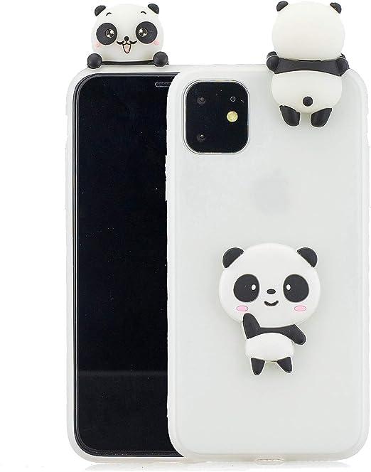 Cute 3D Panda Silicone Case Cover