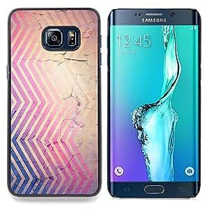 Stuss Case / Funda Carcasa protectora - Chevron Rústico Wallpaper Marrón Violeta - Samsung Galaxy S6 Edge Plus / S6 Edge+ G928