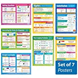 Algebra Set of 7 Posters