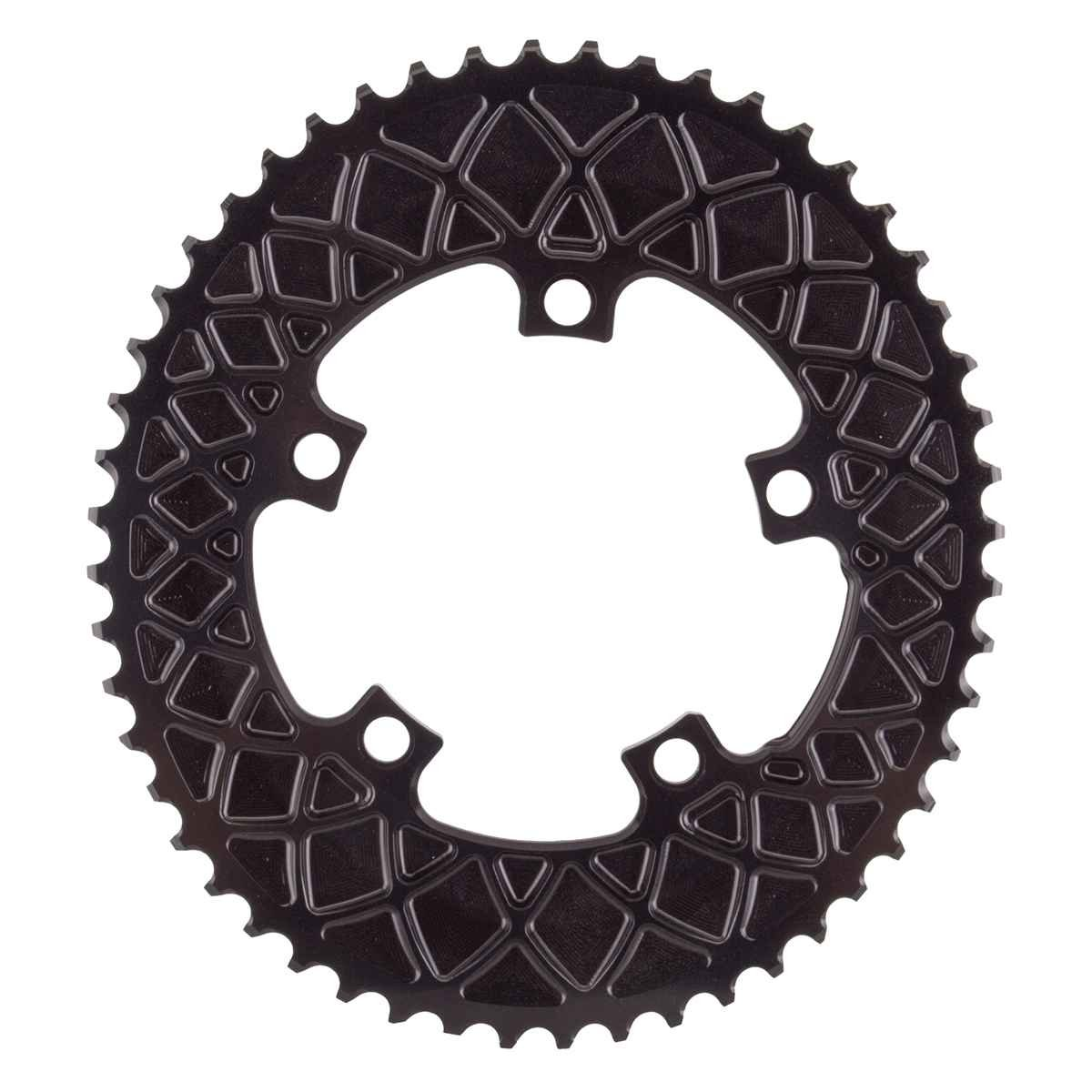 Absolute Black(アブソリュートブラック)ROV52/5BK Ovalチェーンリング ROAD 52T 110PCD 5アーム用 ブラック B01GQWH8IW