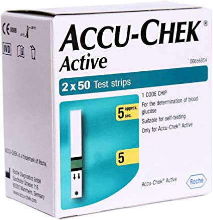 Amazon Com Accu Chek Active 100 Test Strips With 1 Code Chip