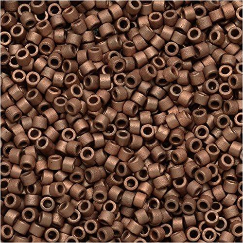 Miyuki (DB340) Delica Seed Bead, 7.2g, Matte Copper Delica Matte