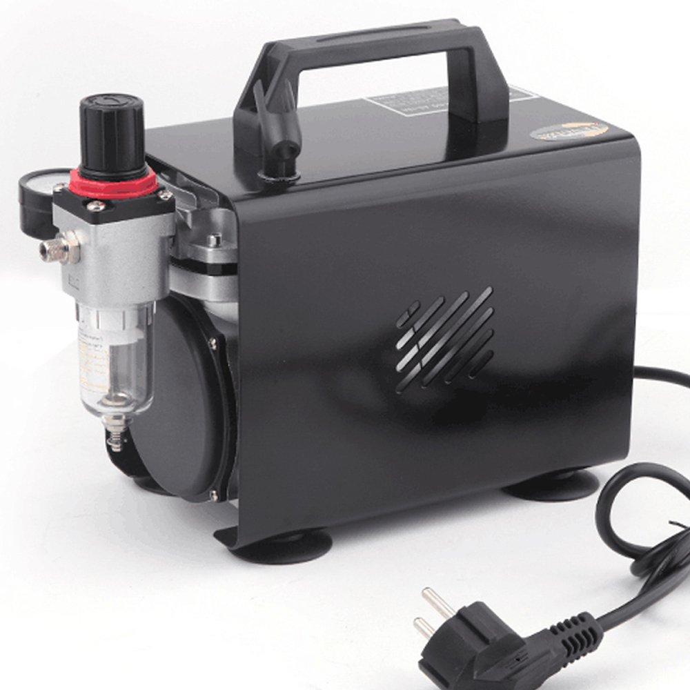 Compresor de aeró grafo Original Fengda FD-18A / regulador de presió n / 4 bar / parada automá tica Cn Bida
