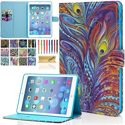 iPad Mini Case, Mini 2/3 Case, Dteck(TM) Slim Fit Folio Leather Stand Case with Auto Sleep/Wake Function Card Slots Magnetic Closure Smart Cover for Apple iPad Mini 1/2/3 (Impression)