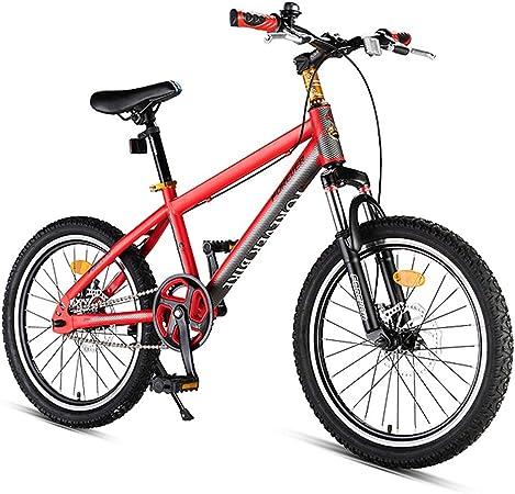 NENGGE Niño Bicicleta, Doble Freno Disco Hard Tail Bicicleta, Marco De Acero De Alto Carbono, Niña Ligero Bicicleta Montaña,Rojo,20 Inches: Amazon.es: Hogar