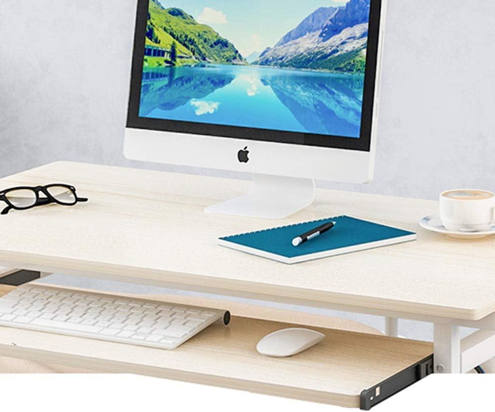 Mobile Computer Portatile Scrivania Computer Con Vassoio Tastiera,Regolabile Comodino Scrivania Postazioni Di Lavoro,Scrivania Porta PC Con Ruote