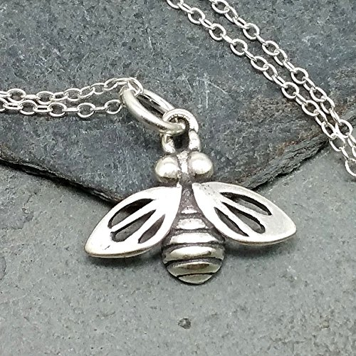 Honey Bee Necklace - 925 Sterling Silver ()