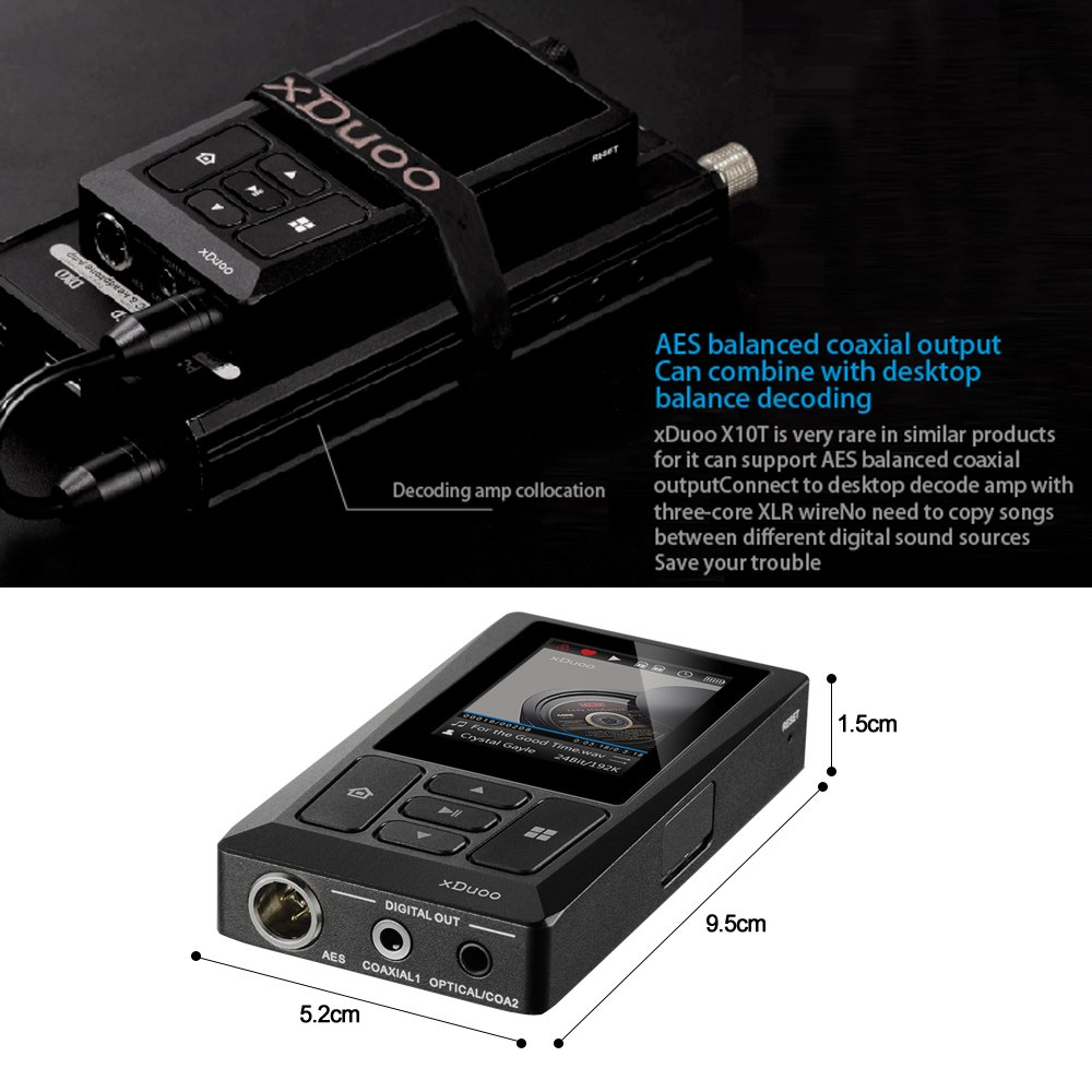 Docooler xDuoo X10T HiFi Music Player Digital Turntable Player High Resolution Lossless Audio Player WM8805 JZ4760B DSD APE FLAC w/ 2 inch Screen by Docooler (Image #7)