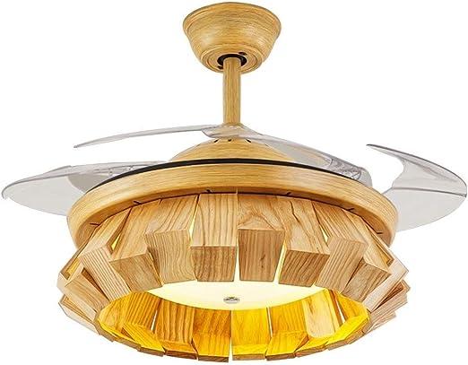 Ventiladores de techo con lámpara silencioso control remoto ...