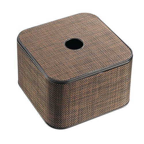 InterDesign Twillo Large Covered Canister, Bronze - Hickory Bathroom Sink Vanity