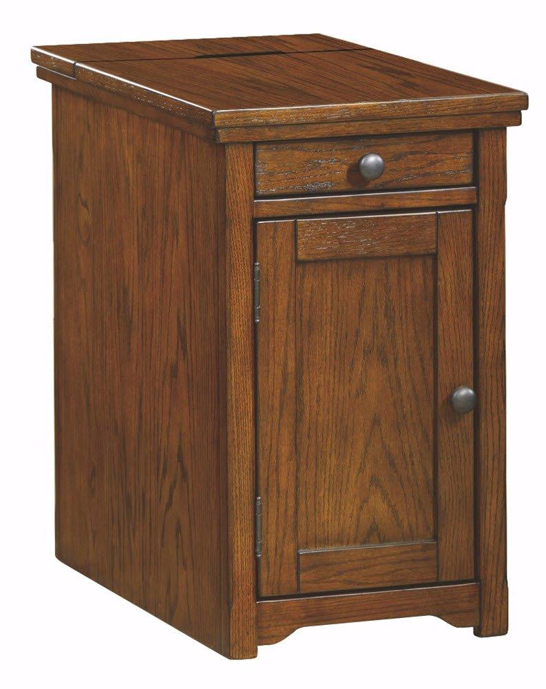 Ashley Furniture Signature Design - Laflorn Chair Side End Table - Rectangular - Dark Brown T127-668