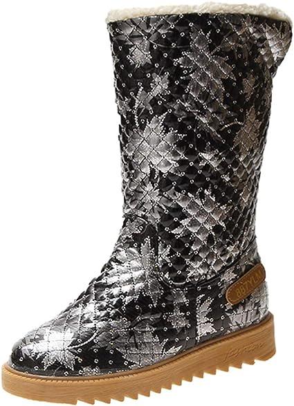 Damen Flache Stiefel Stiefeletten Ankle Boots Sportschuhe Freizeit Winterschuhe