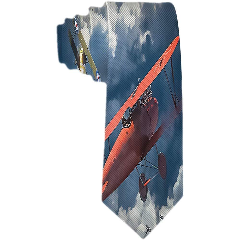 Corbata cl/ásica para hombre Corbata de avi/ón de combate Aviones Corbatas tejidas
