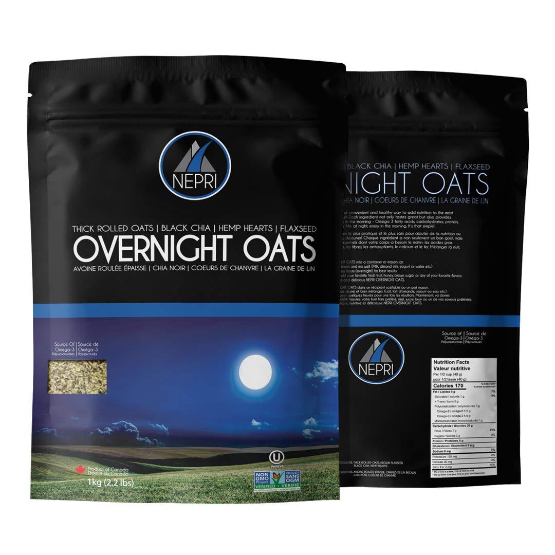 NEPRI - Oats de noche (2.2 lbs) – gruesas aves, semillas de ...