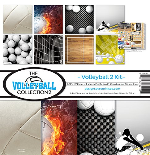 Volleyball Scrapbooking - Reminisce The Volleyball Collection 2 Scrapbook Kit