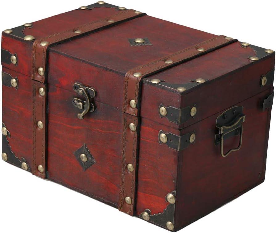 RDEXP 22x14.5x14cm Vintage Decorative Home Storage Trunk Storage Box Treasure Chest