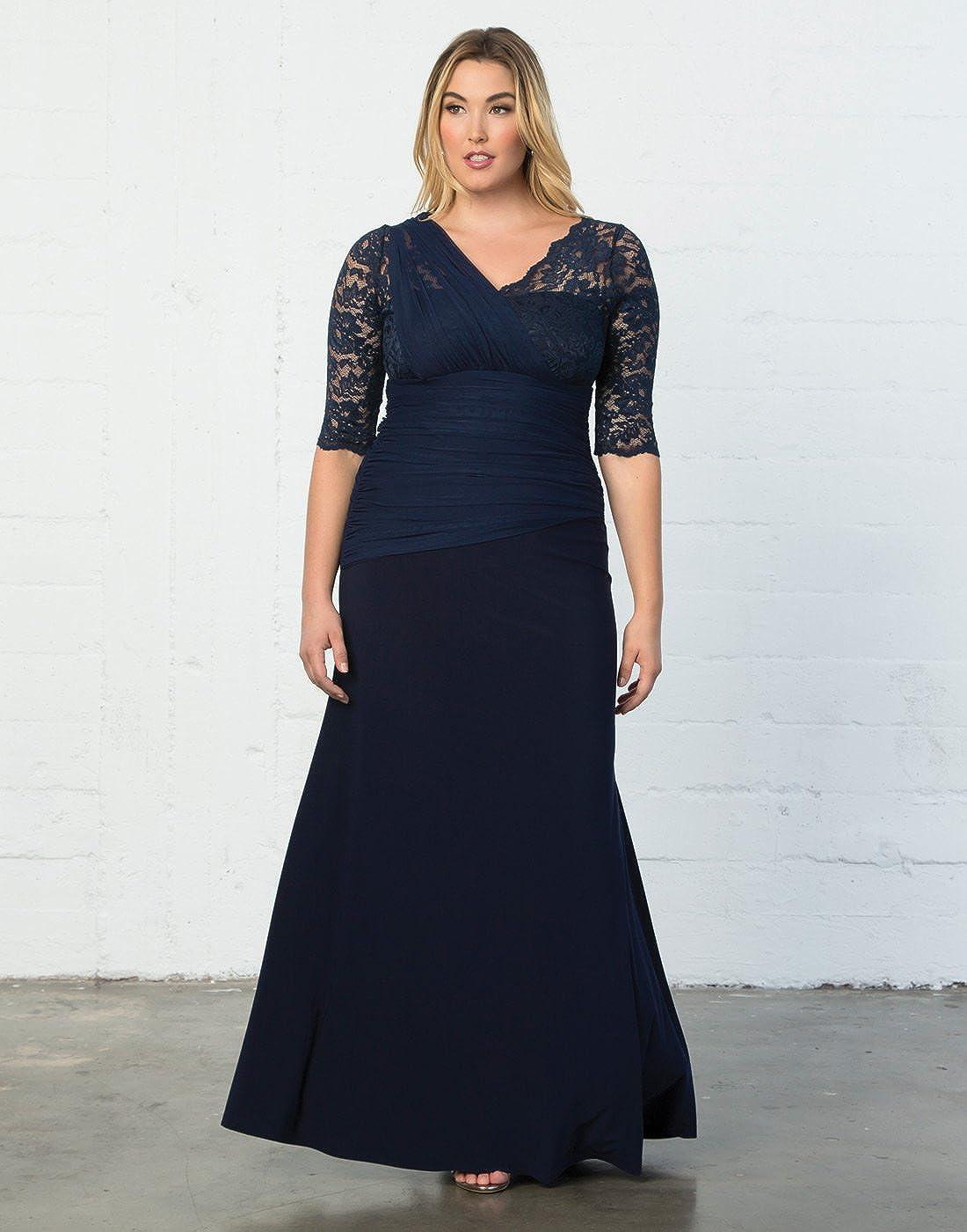 Kiyonna Womens Plus Size Soiree Evening Gown