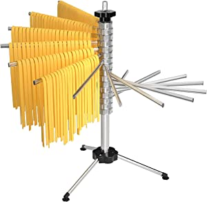 X Home Pasta Drying Rack, Collapsible Pasta Drying Rack with 16 Suspension Rods to Dry 4.5 Pounds of Homemade Pasta Spaghetti Noodle