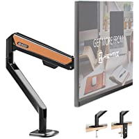 HEYMIX Single Monitor Arm Adjustable Computer Stand Gas Spring Arm VESA Mount Full Motion Aluminum Structure with 2…