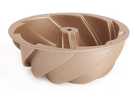 Molde de la torta Espesar Oro Mini Torbellino Herramientas para hornear 11 * 4 cm Galletas