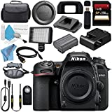 Nikon D7500 DSLR Camera (Body Only) 1581 + Carrying Case + 256GB SDXC Card + Professional 160 LED Video Light Studio Series + Mini HDMI Cable + Wireless Universal Shutter Release Remote Bundle
