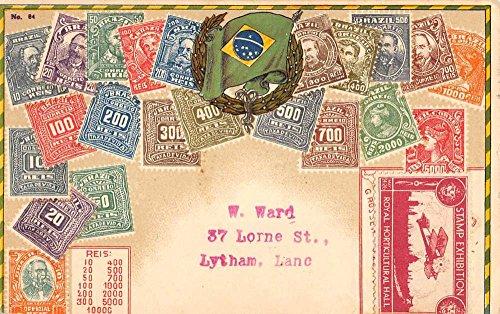 Brazil Postcard (Brazil South America Stamp Exhibition Antique Postcard K76642)