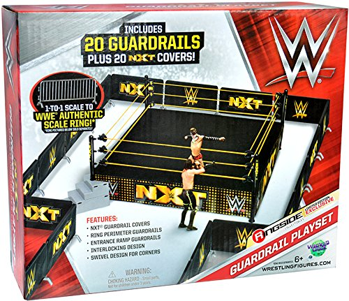 NXT Guardrail Playset - Ringside Collectibles Exclusive WWE NXT Toy Wrestling Action Figure Accessory Pack - Exclusive Wwe Toy