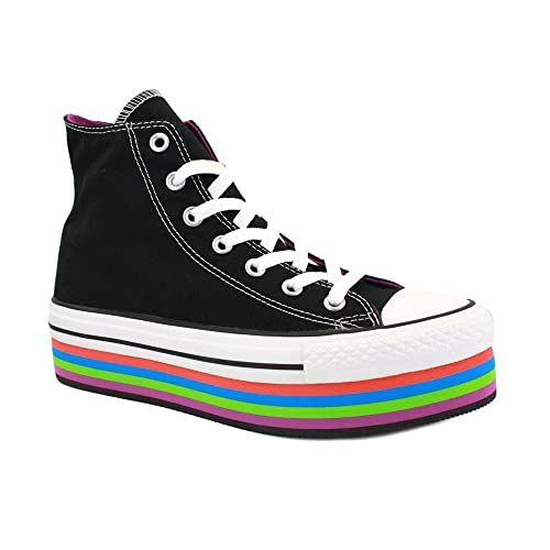 Converse All Star Platform 540268C Zapatillas Deportivas de Lona para Mujer con Plataforma Negras y Multicolor - 39: Amazon.es: Zapatos y complementos