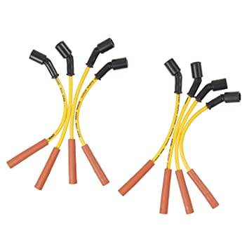 ACCEL 5059Y - Juego de cables para bujía, 8 mm, color amarillo: Amazon.es: Coche y moto