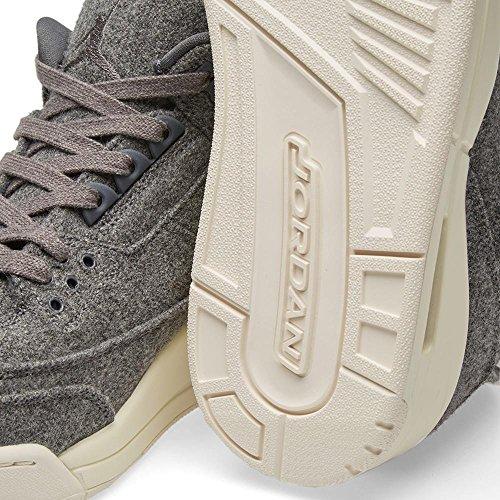 Jordan Nike Herren Air 3 Retro Wolle Basketballschuh Dunkelgrau, Dunkelgrau-Segel