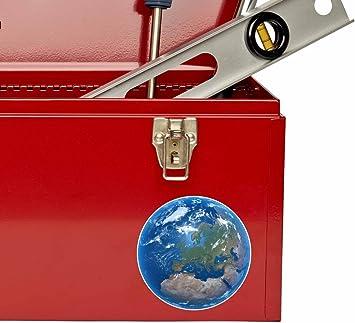 2 x Earth Vinyl Sticker Car Travel Luggage #9559